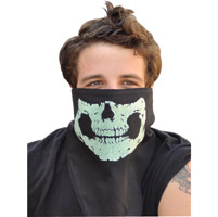 That's A Wrap Glow in the Dark Skull Jaw Fleece Gaitor