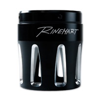 Rinehart Racing 4″ Moto Series Machined End Cap Merge Style Black