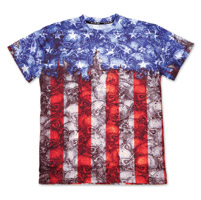 Lethal Threat USA Flag Skull Camo T-Shirt