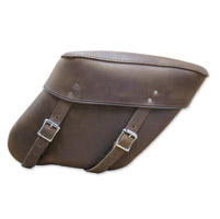 Leatherworks, Inc. Wide Angle Distressed Brown Economy Throwover Saddlebag
