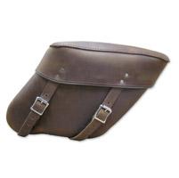 Leatherworks, Inc. Wide Angle Distressed Brown Economy Throwover Saddlebag