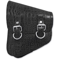 LaRosa Design Left Side Black Alligator Swingarm Bag with Tools