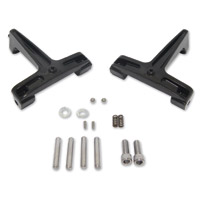 Milwaukee Twins Black Streamliner Floorboard Mounts