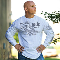 J&P Cycles® Men's Renegade White Long-Sleeve T-Shirt