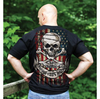 J&P Cycles® Men's American Attitude Black T-Shirt
