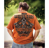 J&P Cycles® Men's Behind Bars Texas Orange T-Shirt