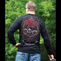 J&P Cycles® Daytona Pinstripe Black Long-Sleeve T-Shirt