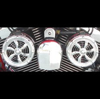 Love Jugs Chrome Bullet Engine Fan with Frame Mount