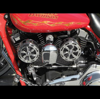 Love Jugs Chrome Slot Engine Fan with Frame Mount