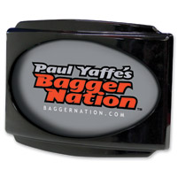 Paul Yaffe Originals CVO Universal Stealth III Gloss Black License Plate Frame