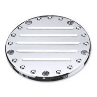 Precision Billet Chrome Fluted Derby Cover