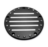 Precision Billet Black Fluted Derby Cover