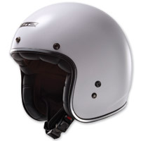 LS2 Kurt Solid White Open Face Helmet