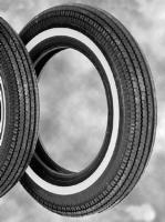 Coker Super Eagle Replica 5.00-16 Narrow Whitewall Front/Rear Tire