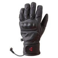 GYDE powered by Gerbing Men's Hero Heated Black Leather Gloves