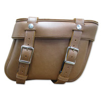 Leatherworks, Inc. Indian Brown Bolt-On Saddlebags