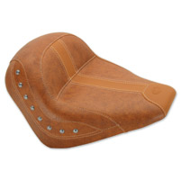 Mustang Brown Vinyl Studded Solo Seat