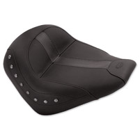 Mustang Black Vinyl/Leather Insert Studded Solo Seat
