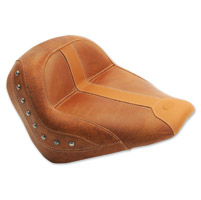 Mustang Brown Vinyl/Leather Insert Studded Solo Seat