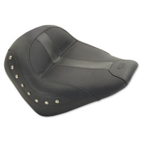 Mustang Black Vinyl Studded Solo Seat