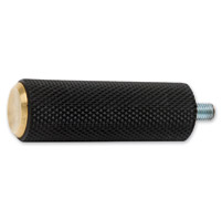 Arlen Ness Black/Brass Knurled Rubber Shift Peg