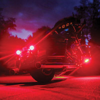 Cirius USA Black Textured 1-1/4″ Engine Guard Mounted Red LED Lights
