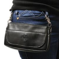 Bone Mountain Motor Gear Hipster II Black Leather Bag w/Black Logo