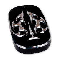 Precision Billet Black Ace′s Wild Rear Master Cylinder Cover
