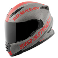 Speed and Strength SS1600 Cruise Missile Red Full Face Helmet