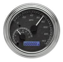 Dakota Digital Black/Gray MVX-2002 Series Analog Gauge System with Chrome Bezel