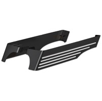 Cycle Smiths Black Machined Billet XL Saddlebag Extension with Dual Cut-Out