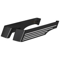 Cycle Smiths Black Machined Billet XL Saddlebag Extension without Cut-Outs