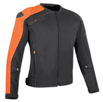 Speed and Strength Men's Lightspeed Black/Orange Textile Jacket