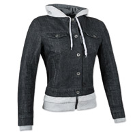 Speed and Strength Women's Fast Times Black Denim Hoodie Jacket