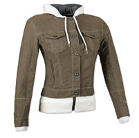 Speed and Strength Women's Fast Times Brown Denim Hoodie Jacket