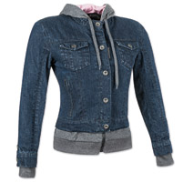 Speed and Strength Women's Fast Times Blue Denim Hoodie Jacket