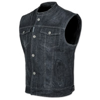 Speed and Strength Men's Soul Shaker Black Denim Vest