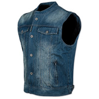 Speed and Strength Men's Soul Shaker Blue Denim Vest