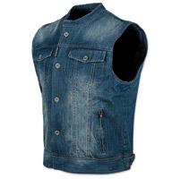 Speed and Strength Men's Soul Shaker Blue Denim Vest