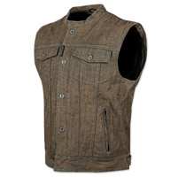 Speed and Strength Men's Soul Shaker Brown Denim Vest