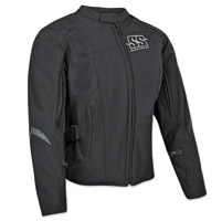 Speed and Strength Women's Back Lash Black Textile Jacket