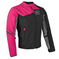 Speed and Strength Women's Back Lash Black/Pink Textile Jacket