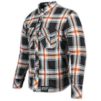 Speed and Strength Men's Rust and Redemption Black/Orange Moto Jacket