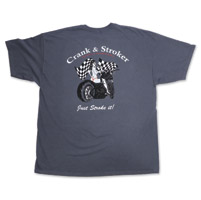 Crank & Stroker Supply Men's Biker Chick Dark Grey T-Shirt