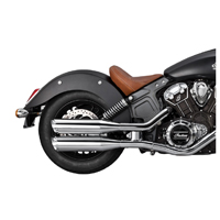 Vance & Hines Twin Slash Round Slip Ons Chrome