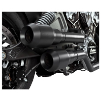Vance & Hines 2-into-2 Black Hi-Output Grenades Exhaust with Black End Caps