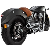 Vance & Hines 2-into-2 Chrome Hi-Output Grenades Exhaust with Chrome End Caps