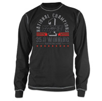 Vance & Hines Men's Anniversary Thermal Black Long Sleeve Tee