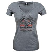 Vance & Hines Women's Anniversary V-Neck Gray T-Shirt