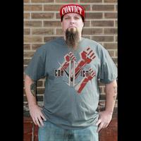 Convict Customz Men's Triple Threat Charcoal T-Shirt